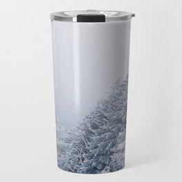 snow covered trees Travel Mug