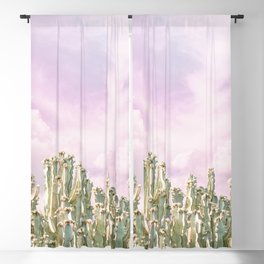 Unicorn Sky Cactus Blackout Curtain