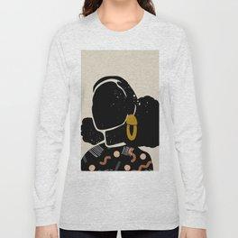 Black Hair No. 4 Long Sleeve T-shirt