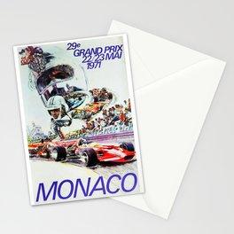 Gran Prix de Monaco, 1971, original vintage poster Stationery Cards