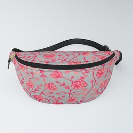 Watercolor Peonies - Coral Fanny Pack