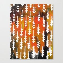 Orange Arrows Canvas Print