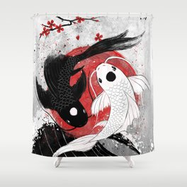 Koi fish - Yin Yang Shower Curtain