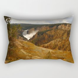 Thundering Waters Of The Yellowstone River Rectangular Pillow
