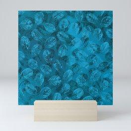 Blue Leaves imprints Mini Art Print