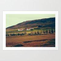 Lava Field House Art Print