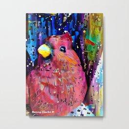 Redbird Christmas Metal Print