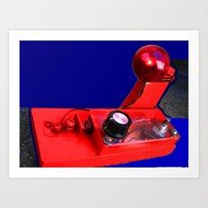 Rudolphs Nose Art Print