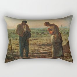 The Angelus Jean Francois Millet Rectangular Pillow