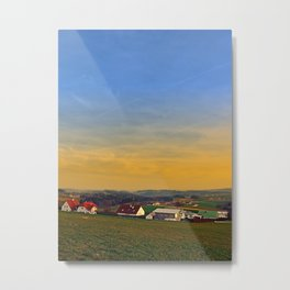 Sunset, the village and panorama | landscape photography Metal Print