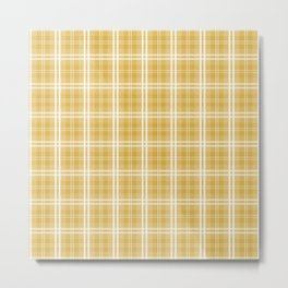 Fall 2016 Designer Color Mustard Yellow Tartan Plaid Check Metal Print