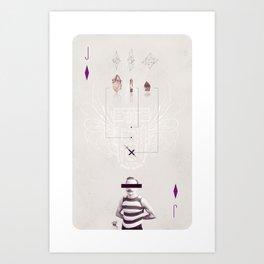 Jack of Diamonds Art Print