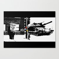 war Canvas Prints featuring War by Hiver & Leigh