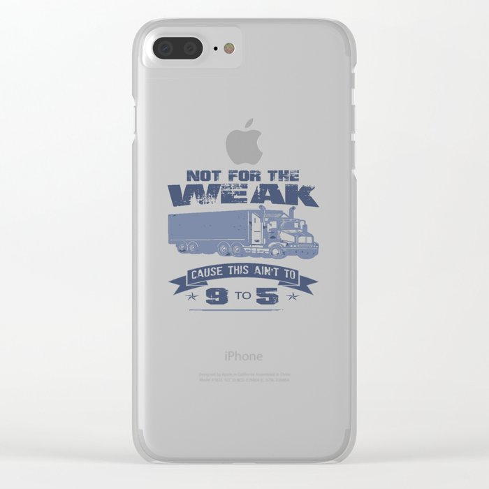 TRUCKER DRIVER Clear iPhone Case