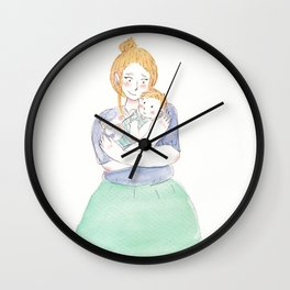 Mommy & Me Wall Clock