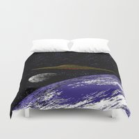 ufo Duvet Covers featuring UFO by noirlac