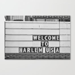 Welcome to Harlem Canvas Print
