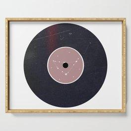 Vinyl Record Zodiac Sign Capricorn Serving Tray