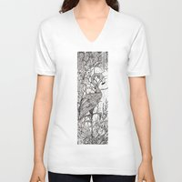 rare V-neck T-shirts featuring Rare Bird by Shanna Duncan