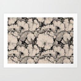 Tussilago Leaves Pattern Art Print