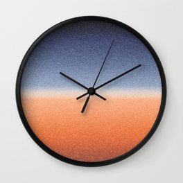 Frozen Ombre - Valley Twilight Wall Clock
