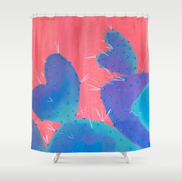 Love is a Prick Cactus Shower Curtain