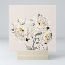 White Peonies Mini Art Print