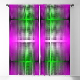 Ombre green and pink grid with purple compass arrow squares Blackout Curtain