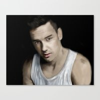 liam payne Canvas Prints featuring Liam Payne by Ismay