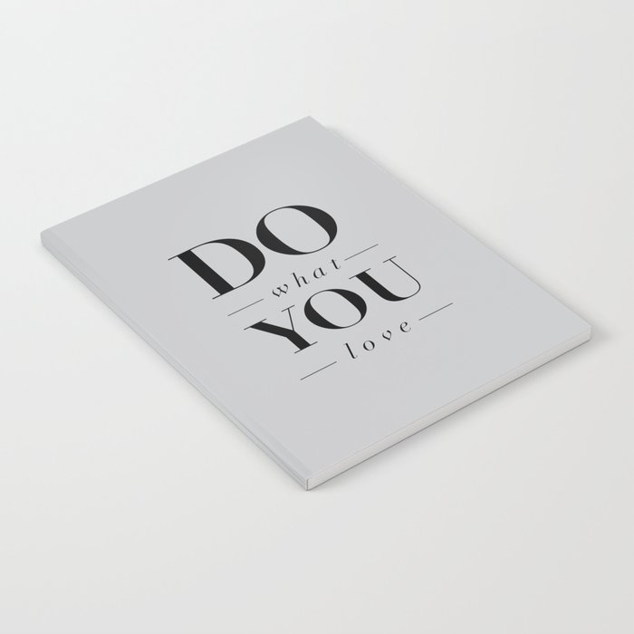Do What You Love Beautiful Inspirational Short Quote about Happiness and  Life Quotes Notebook by themotivatedtype