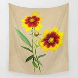 Tickseed Botanical Wall Tapestry