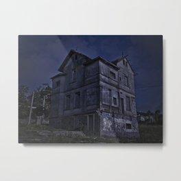 Abandoned Hotel Digital Photo Edited Metal Print