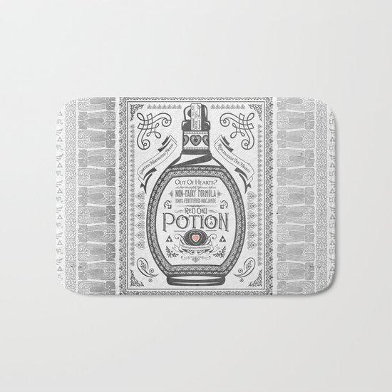 Legend of Zelda Red Potion Vintage Hyrule Line Work Letterpress by jollyappleskull