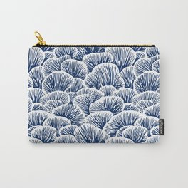 Mushroom Pattern - Dark Blue Carry-All Pouch
