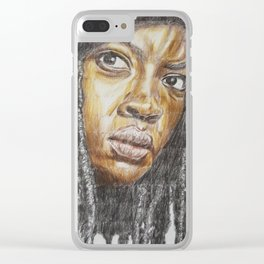 Michonne Clear iPhone Case