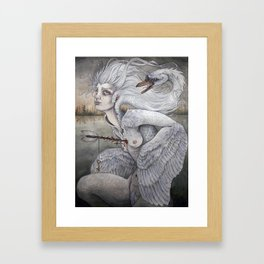 the swan maiden Framed Art Print