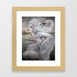 the swan maiden Framed Art Print