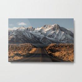 Sierra Nevada, USA | winter landscape photo Edit Metal Print