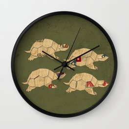 Heroes in a pizza box... Turtle Power! Wall Clock