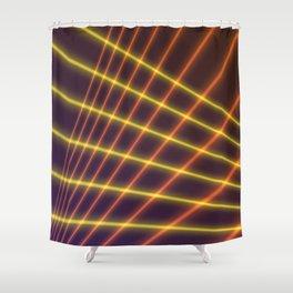 Laser Beams Shower Curtain