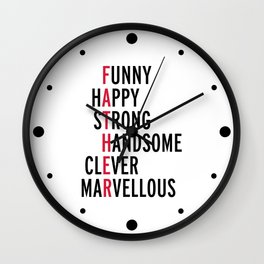 Father Quote Wall Clock