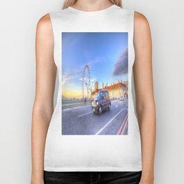 Westminster Bridge And The London Eye Biker Tank
