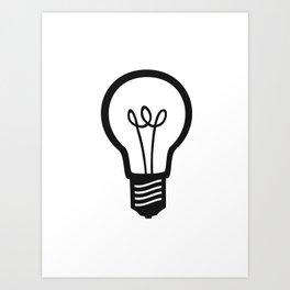 Simple Light Bulb Art Print