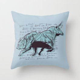 Stock Market Analysis Finance Throw Pillow