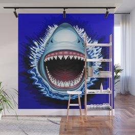 Shark Jaws Attack Wall Mural
