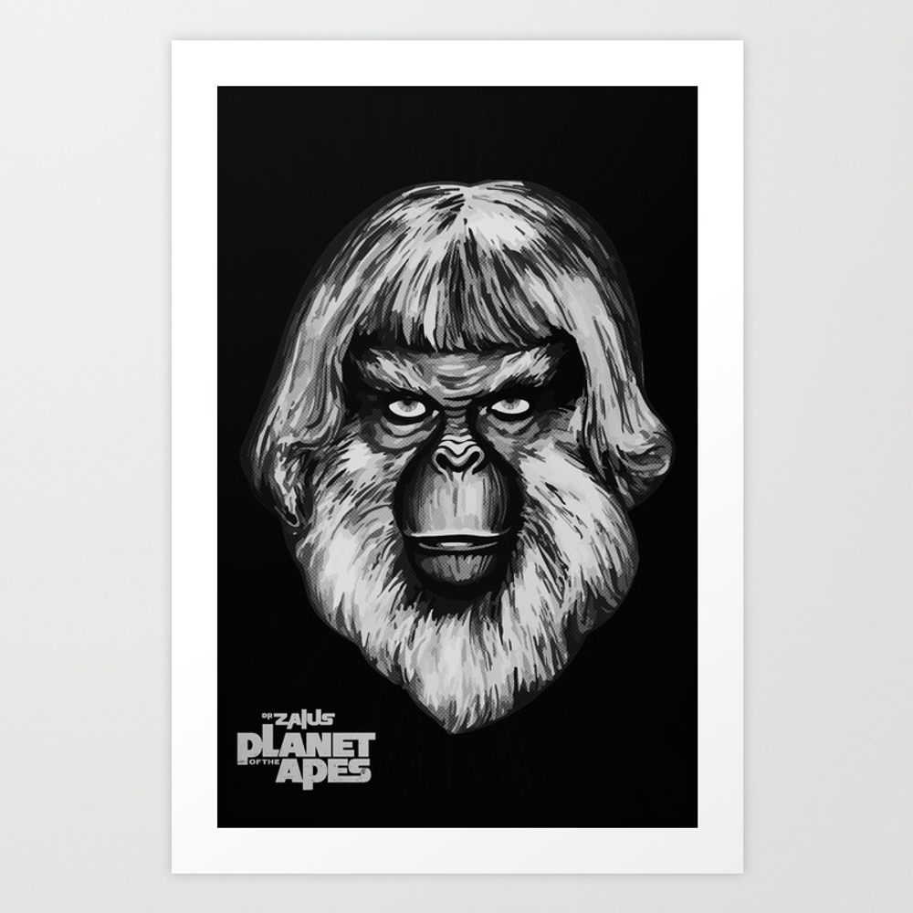 Planet Of The Apes - Dr. Zaius Art Print by Pinhead66 PRN6966352