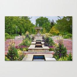 Garden Fountain Canvas Print