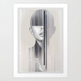 portrait(geometric) Art Print