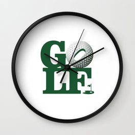 Love Golf Wall Clock