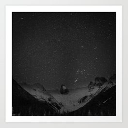 Starry night in the Bugaboos Art Print